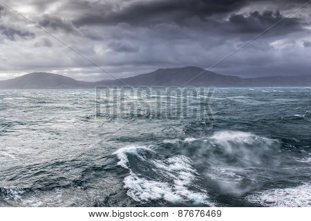 Stormy Sea In The Cook Straight