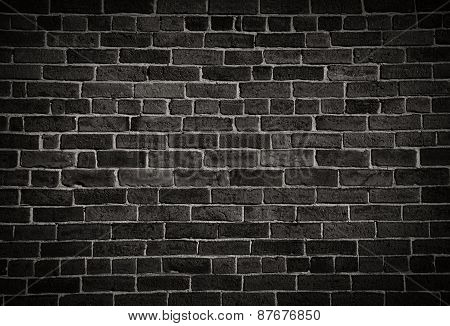 Weathered Stained Old Burnt Brick Wall Background