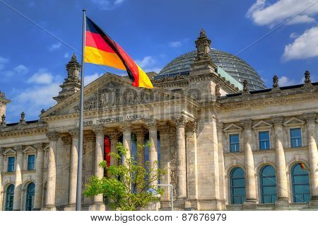 The Reichstag building in Berlin.