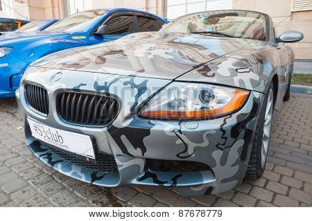 Bmw Z4 Roadster Car With Camouflage Paintings