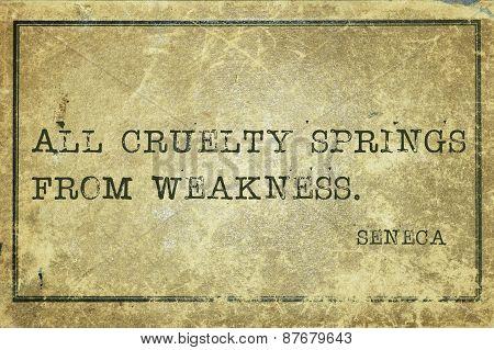 Cruelty Seneca