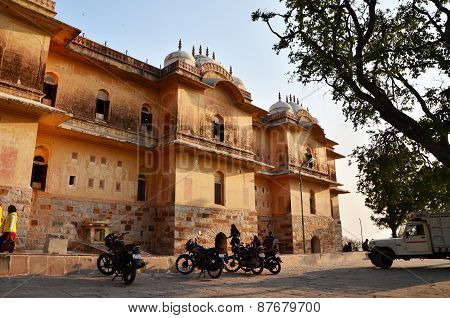 Jaipur, India - December 30, 2014: People Visit Traditional Architecture, Nahargarh Fort In Jaipur.