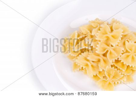 Pasta on the plate.