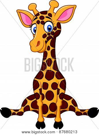 Cartoon cute giraffe
