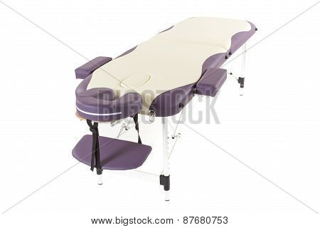 Massage Bed On The White Background