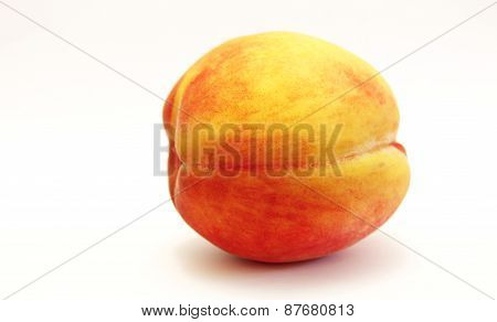 Fresh Peach Isolated On The White Background