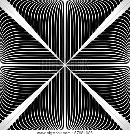Design Monochrome Abstract Lines Background