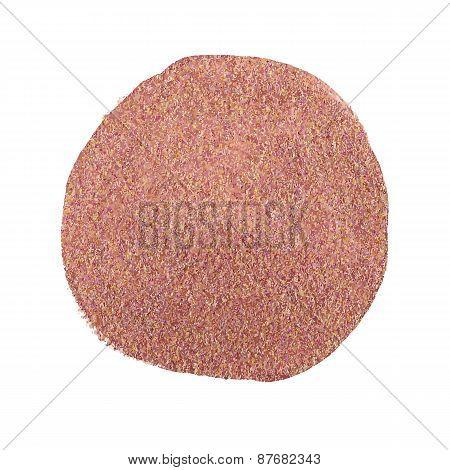 Vector illustration of Bronze acrylic paint circle