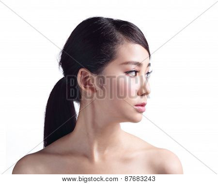 Woman Face Skin Problem