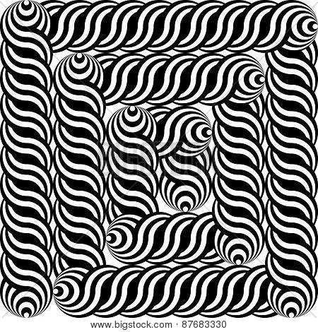 Design Monochrome Labyrinth Pattern