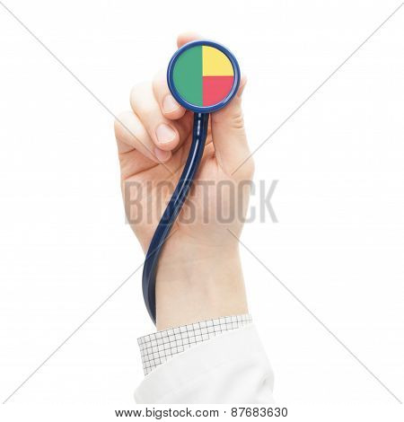Stethoscope With National Flag Series - Benin