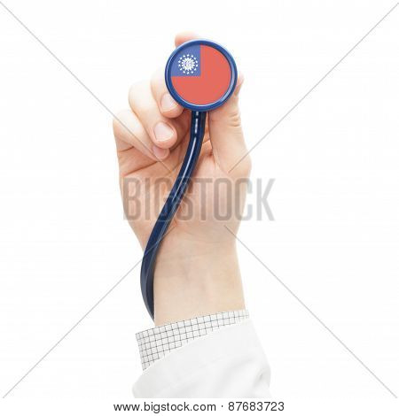 Stethoscope With National Flag Series - Burma