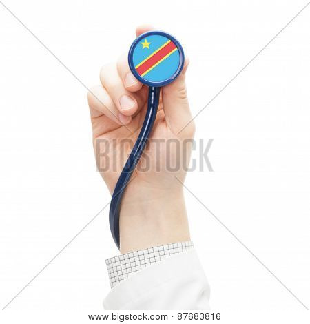 Stethoscope With National Flag Series - Congo-kinshasa