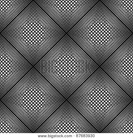 Design Seamless Monochrome Diamond Geometric Pattern