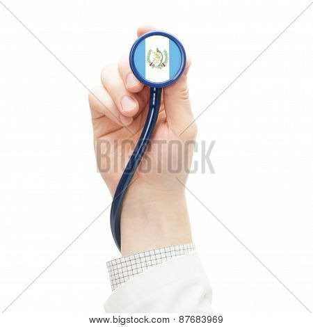Stethoscope With National Flag Series - Guatemala