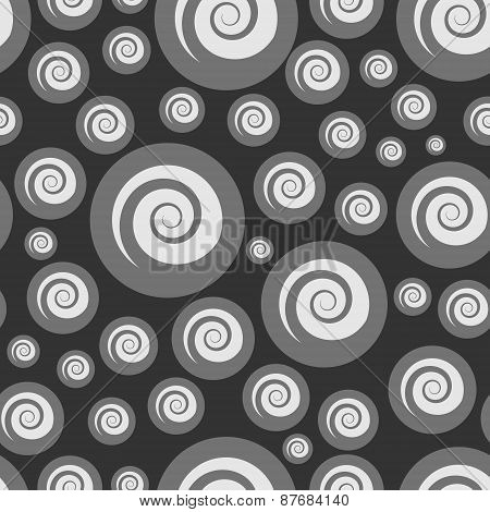 Abstract Bubbling Seamless Pattern Executed In Shades Of Gray.