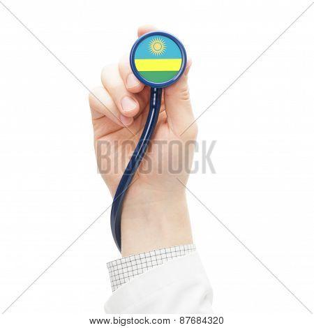 Stethoscope With National Flag Series - Rwanda