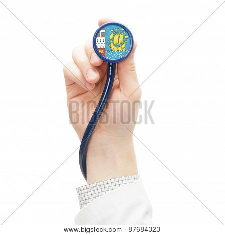 Stethoscope With National Flag Series - Saint-pierre And Miquelon