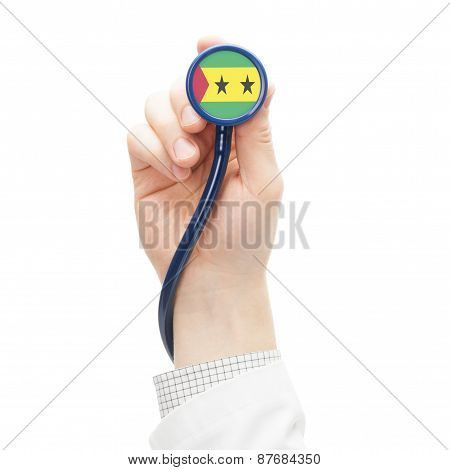 Stethoscope With National Flag Series - Sao Tome And Principe