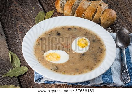 Sour Soup With Egg.