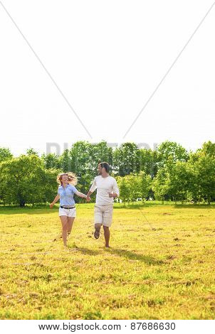 Young Caucasian Couple Enjoying Their Outdoors Holiday