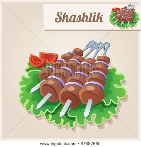 Detailed Icon. Shashlik.
