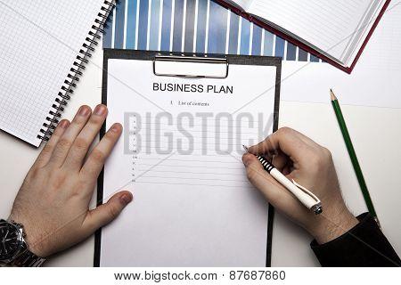 Businessman Begins To Plans