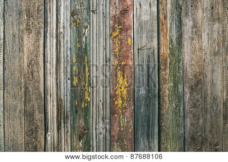 Painted Old Rustic Pine Wood Board Texture (background).