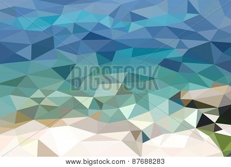 Low poly sea view