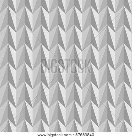 Abstract Seamless Pattern Composed Of Geometric Shapes In Shades Of Gray.