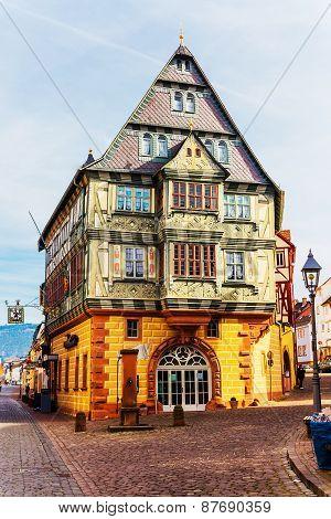 The Hotel Zum Riesen (one of Germany's oldest inns), built 1590 in Miltenberg, Bavaria, Germany