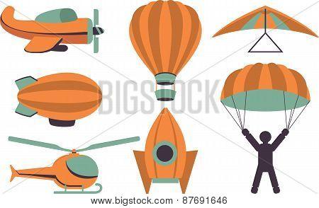 Set Of Icons  Aviation
