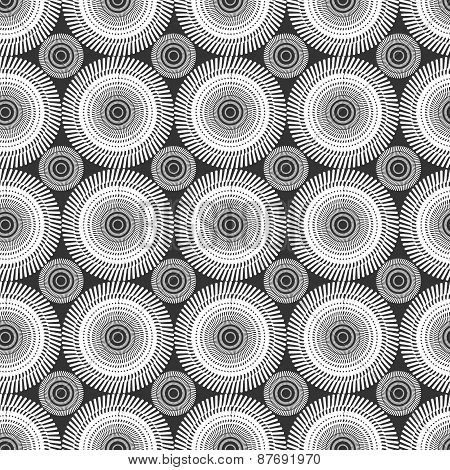 Abstract  Seamless Pattern Made In Shades Of Gray.
