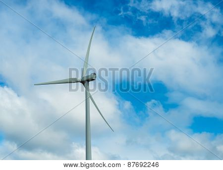 Wind Turbine With The Background Of The Sky