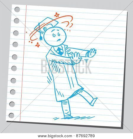 Graduate student dizzy