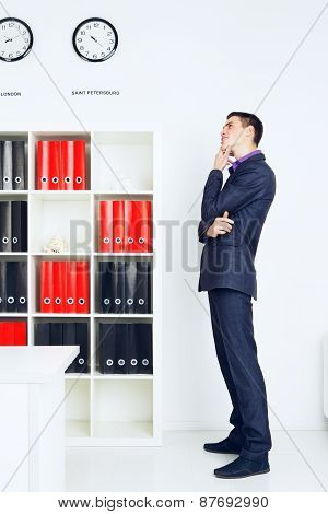 Young Businessman Lost In Thought