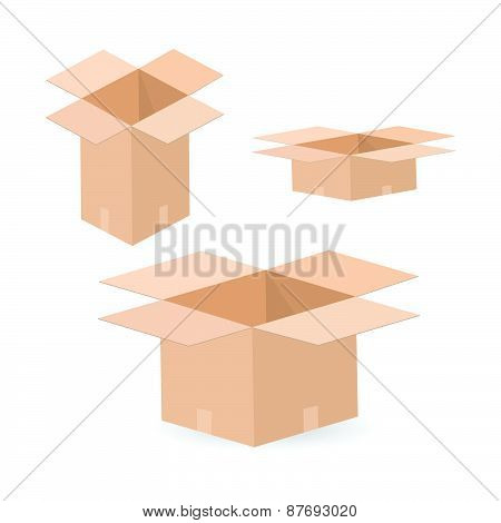 Cardboard Boxes Illustration