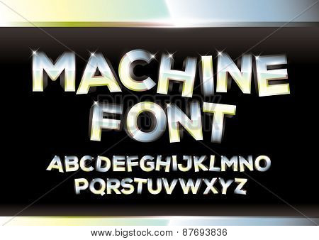 Vector of metallic alphabets