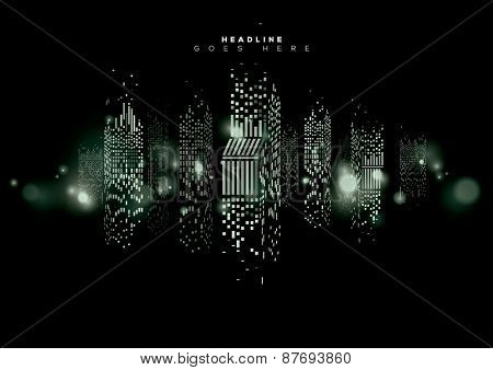 Vector of abstract city skyline