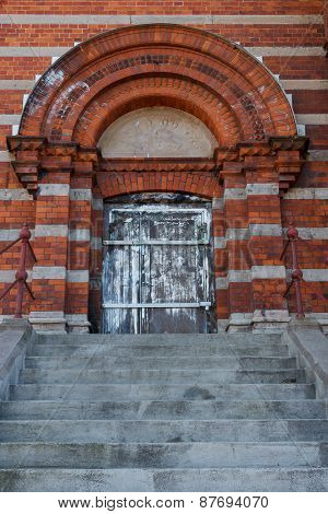 Entrance to an old building in Sweden