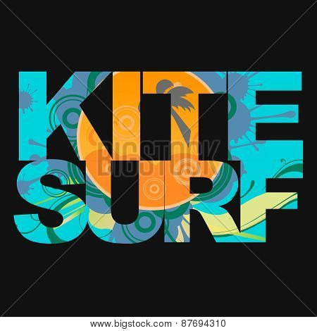 Surfer typography, t-shirt graphics, s