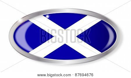 Scotland Flag Oval Button