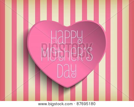 Happy Mother Day Heart Background