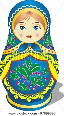 Russian Toy Matryoshka Blue