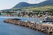 foto of off-shore  - Boats off the beautiful coast of St Kitts - JPG