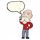 foto of annoying  - cartoon annoyed old man with speech bubble - JPG