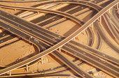 image of dubai  - Highway road intersection in Dubai - JPG