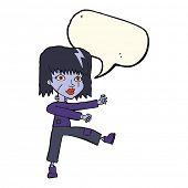 pic of undead  - cartoon undead girl with speech bubble - JPG