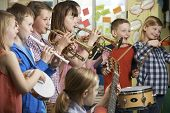 pic of orchestra  - Group Of Students Playing In School Orchestra Together