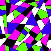 stock photo of transverse  - Mosaic seamless pattern - JPG